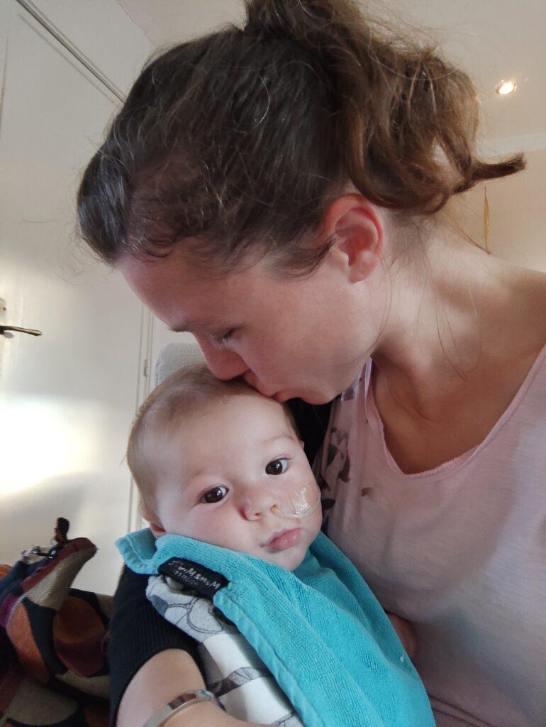 Emiel en mama
