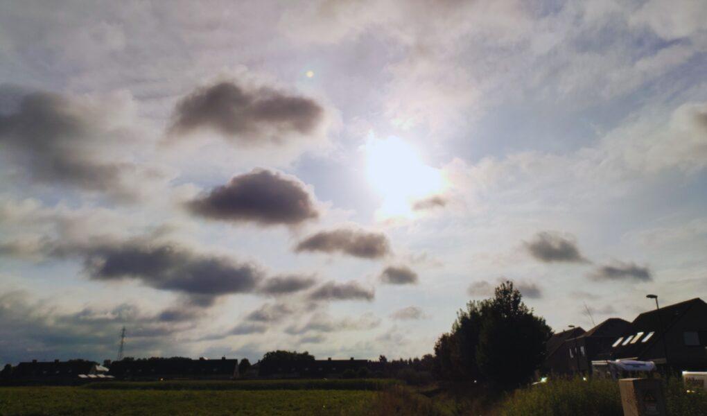 banner roze wolken